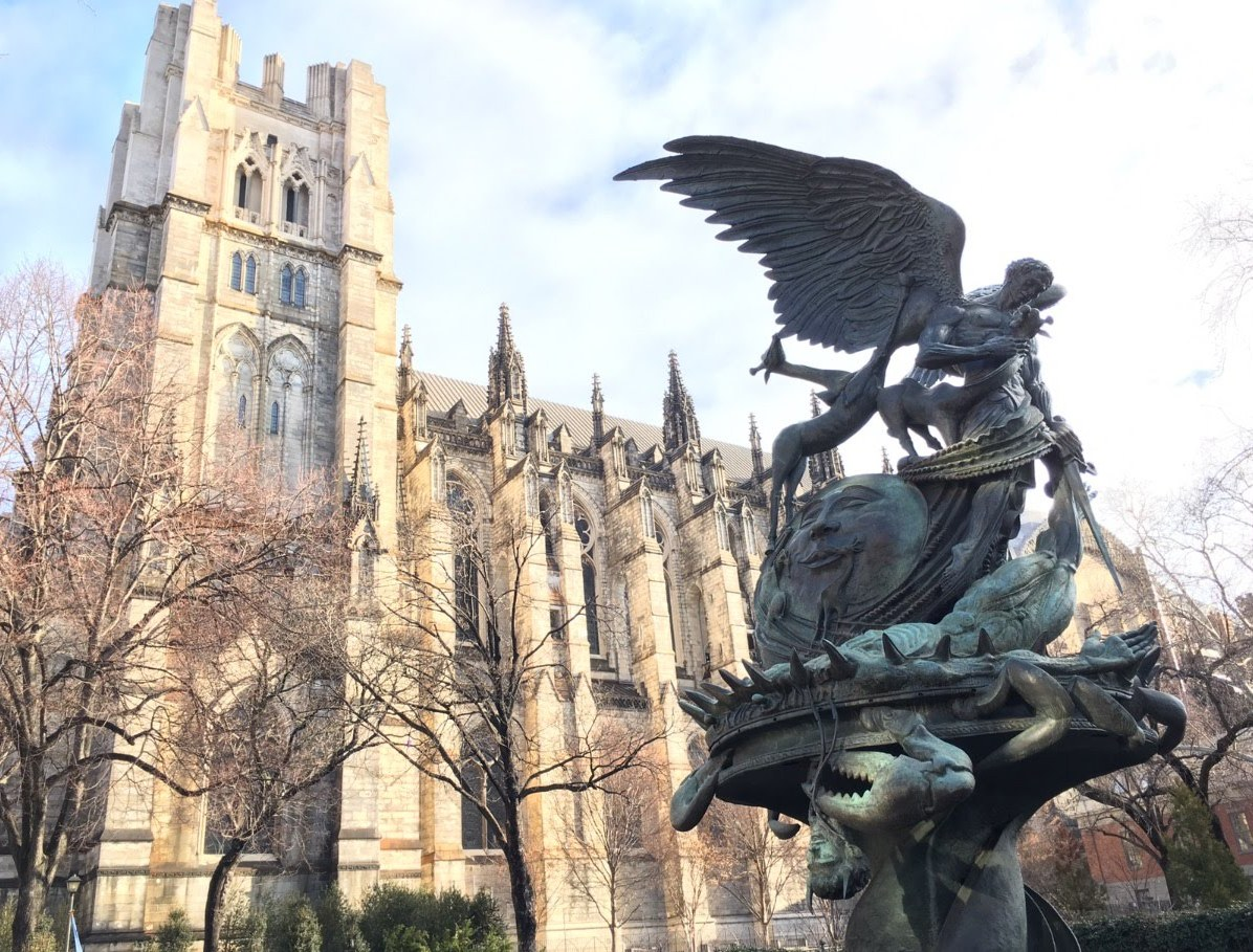 St. John's Cathedral and The Peace Fountain