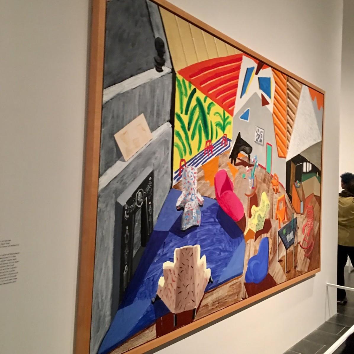 David Hockney exhibit.. lots of great energy!